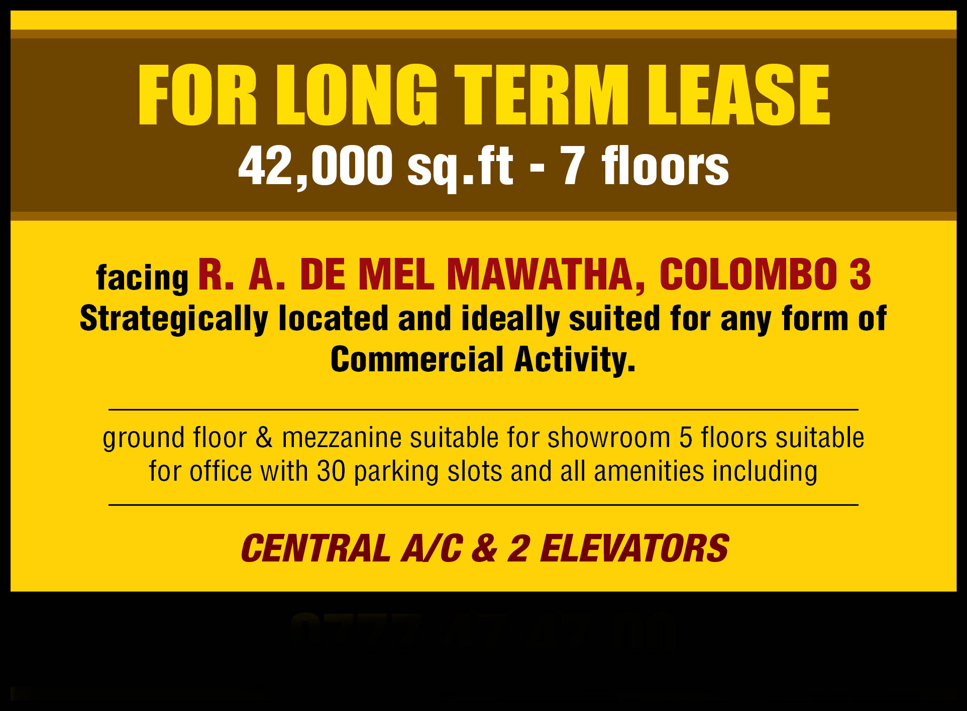 Commercial building for rent/lease in Colombo 03